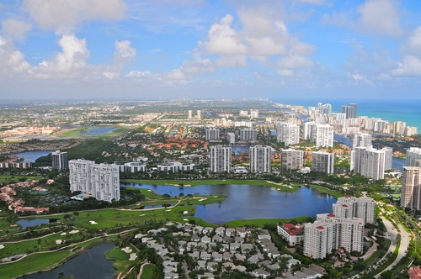 Aventura aerial view