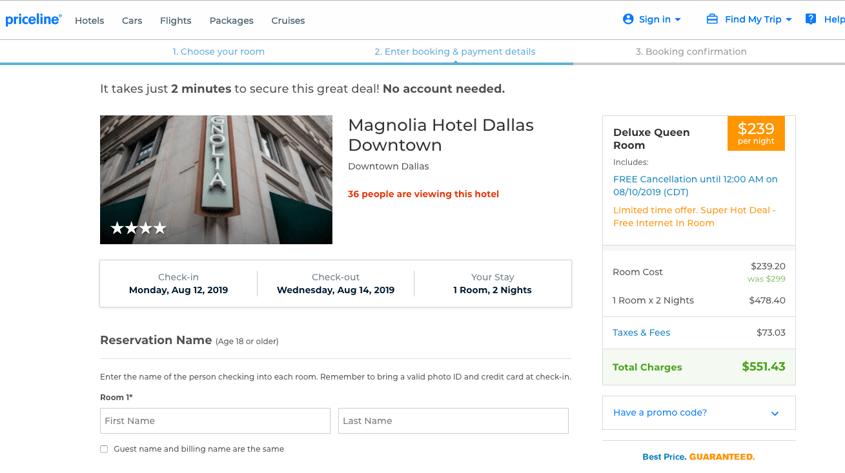 TravNow - Magnolia Hotel - Priceline