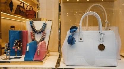 Handbags at shopping mall