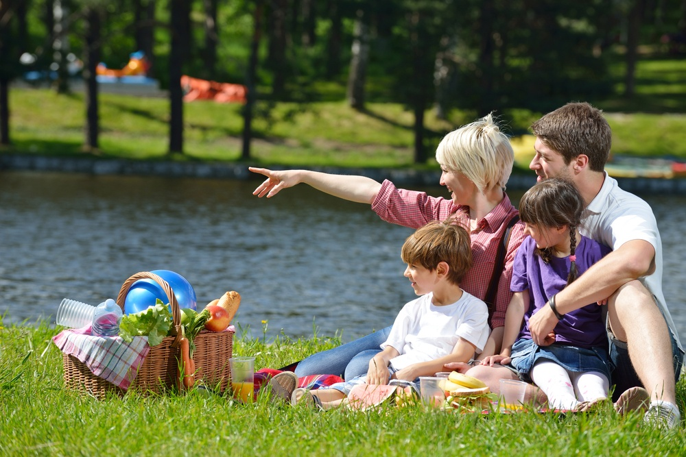 Happy young  family playing together with kids and eat healthy food  in a picnic outdoors.jpeg