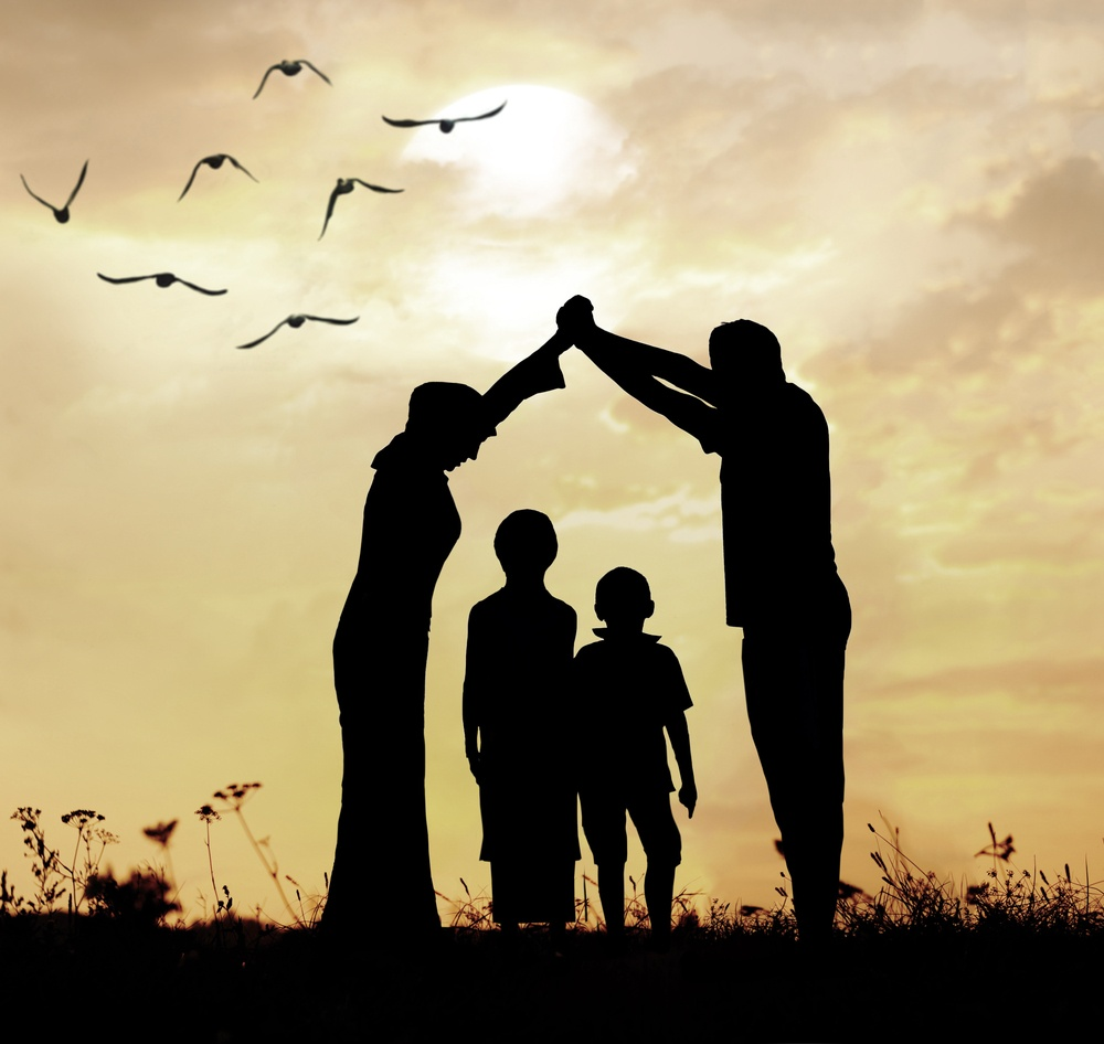 Family parents and children, secure and protecting home concept.jpeg