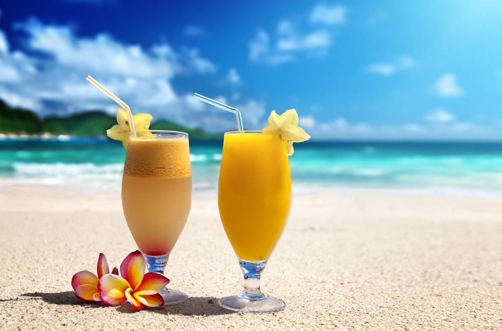 fresh fruit juices on a tropical beach.jpeg